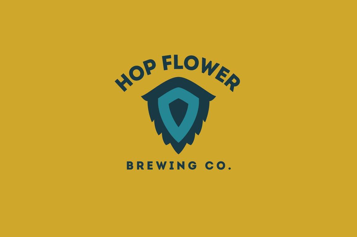 Hop Flower Logo Template Logo Templates Creative Market