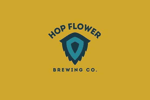 Hop Flower Logo Template