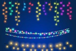 Christmas fairy hanging lights