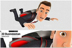 3D Businessman Parachute