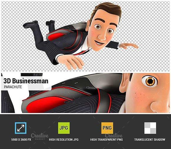 3D Businessman Parachute