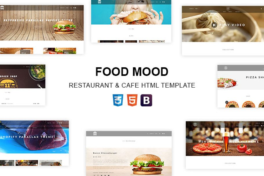 Food Mood - eCommerce HTML Template