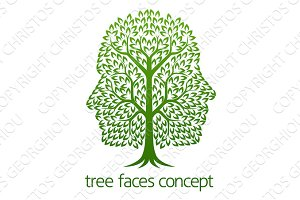 Tree Faces Concept