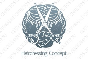 Hairdresser Hair Salon Stylist Concept