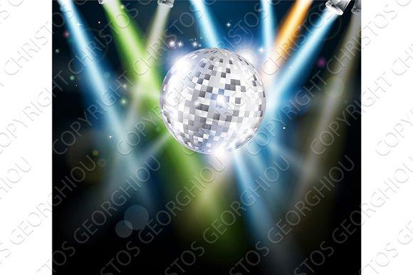 Disco Mirror Ball Background