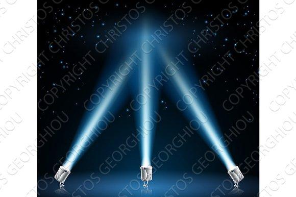 Searchlights Or Spotlights Illustration