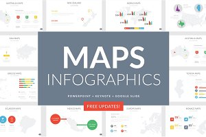 Maps Infographics Slides
