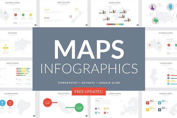 Maps Infographics Slides