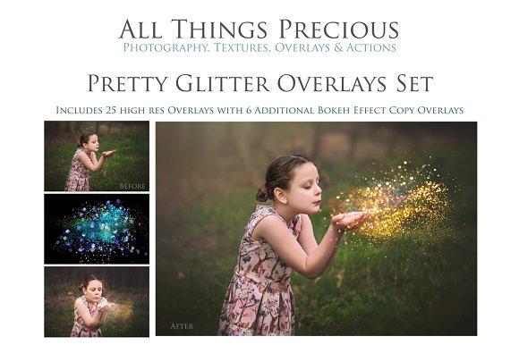 Fine Art Pretty Glitter Overlays