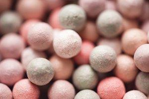 Blush balls closeup
