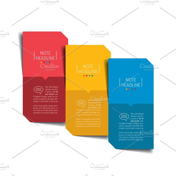 Minimalistic 3 Step Infographic