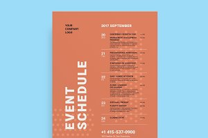 Schedule Event Poster Template, Vol3