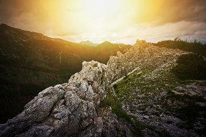 Mountains nature landscape.