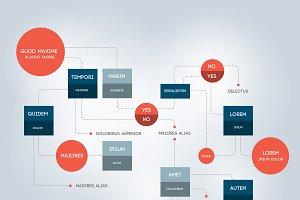 Infographic flowchart template