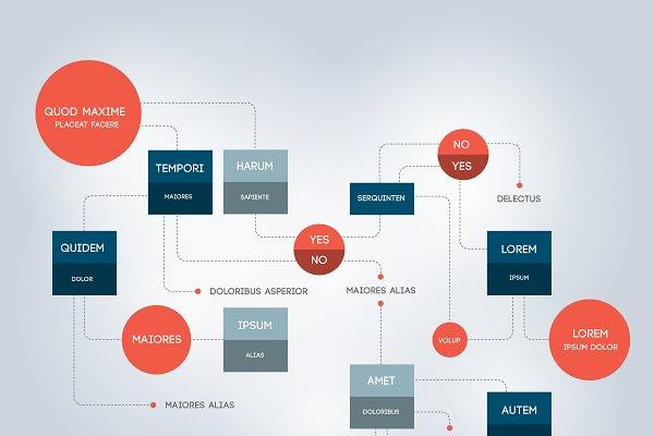 Flowchart. Template, infographic