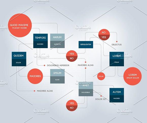 Flowchart Template Infographic