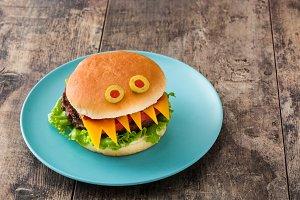 Halloween burger monster