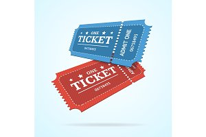 Ticket Fly Blank Admit Set