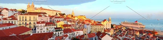 Lisbon Alfama skyline.jpg - Architecture