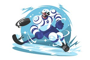 Ice hockey team player