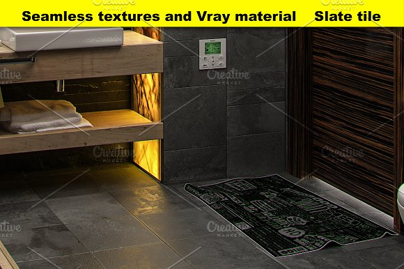 Slate Tile Textures For 3D Graphic