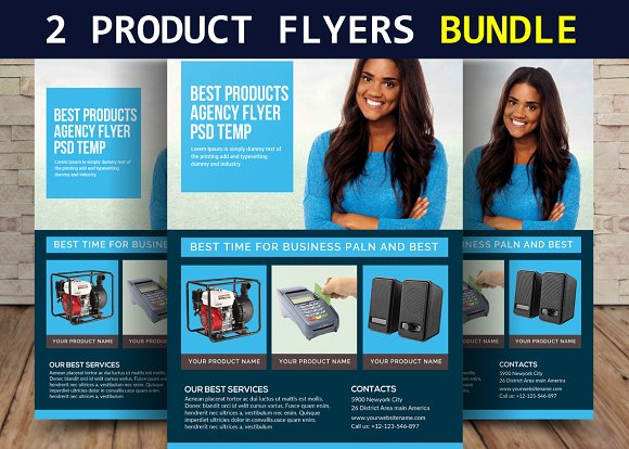 2 Product Sale Flyers Bundle