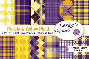 Purple and Yellow Plaids