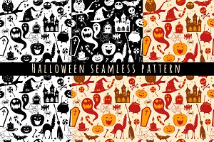 Seamless halloween pattern