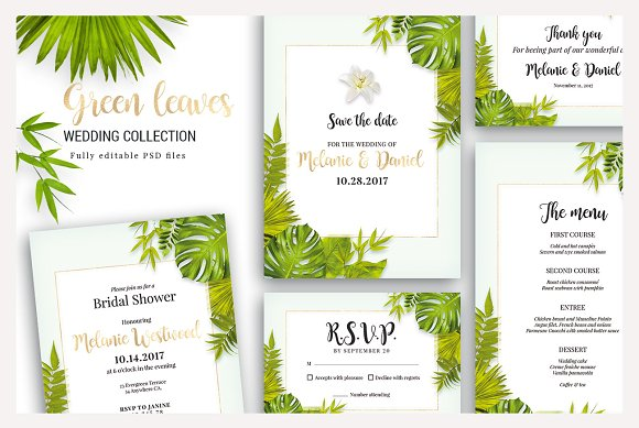 Green Leaves Wedding Collection