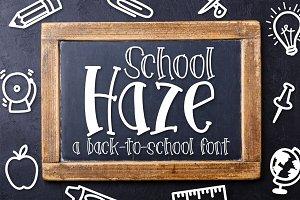 School Haze a Back-to-School Font
