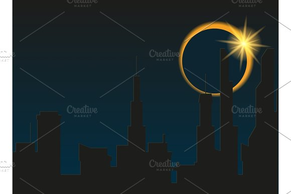 Total Eclipse Of The Sun In The City