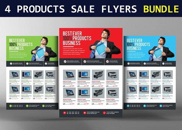4 Products Sale Flyers Bundle