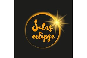 Solar eclipse illustration