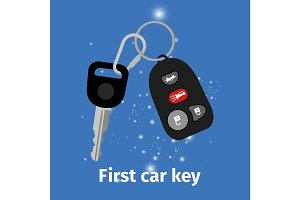 First car key illustration