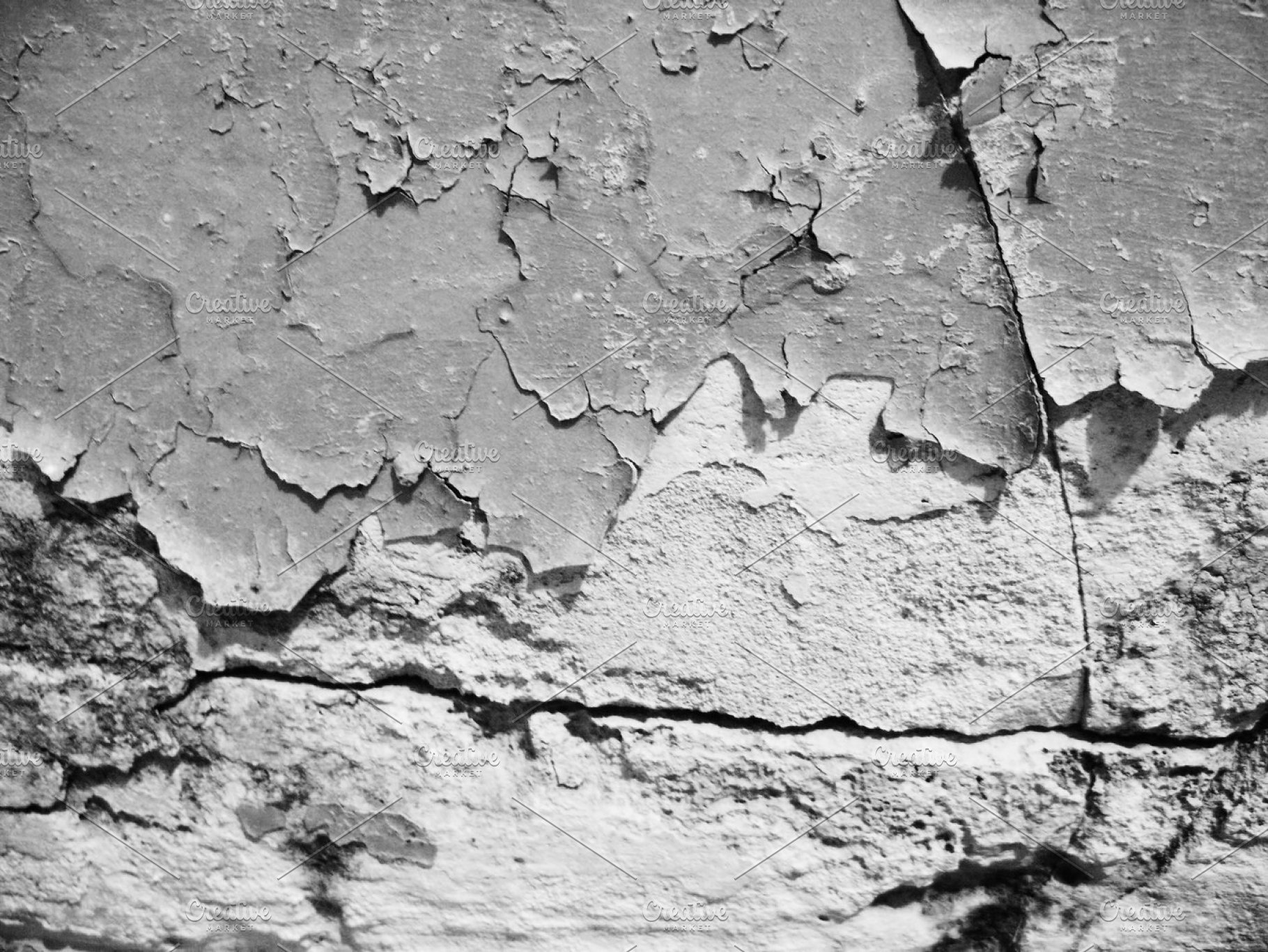 Black and white dirty grunge wall