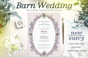 Dusty Wedding at the Barn Card II