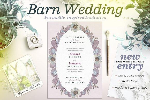 Dusty Wedding At The Barn Card II