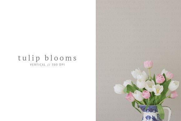 Tulip Arrangement In Vintage Vase