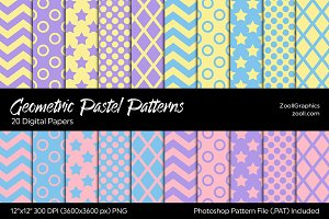Geometric Pastel Digital Papers