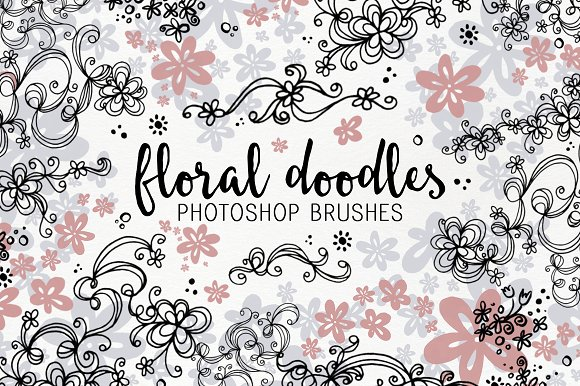 Floral Doodle Photoshop Brushes