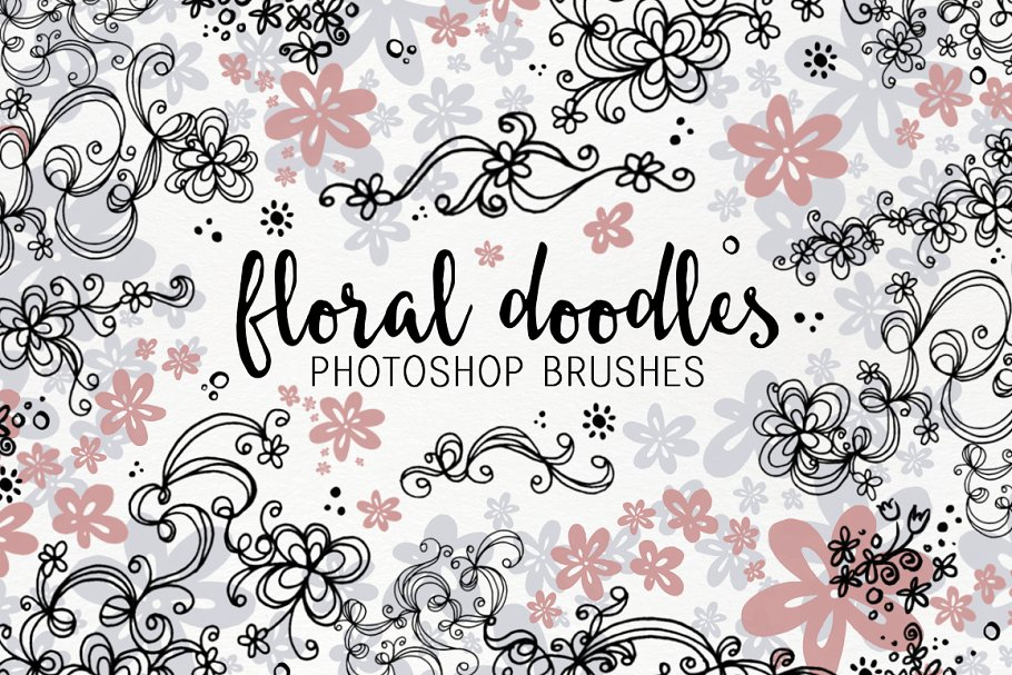 Floral Doodle photoshop brushes