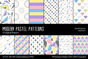 Modern Pastel Digital Papers