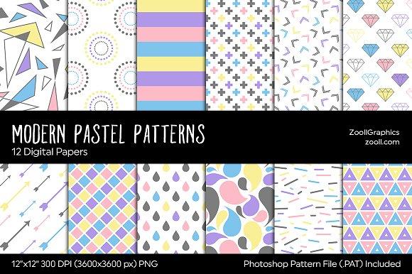 Modern Pastel Digital Papers