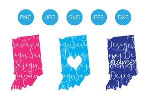 Indiana SVG Cut File and Clipart