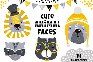 Cute animal faces creator