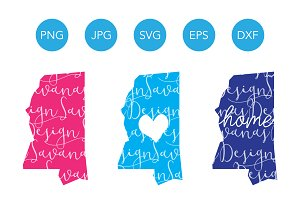 Mississippi SVG Cut File and Clipart