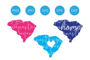 South Carolina SVG Cut Files Clipart