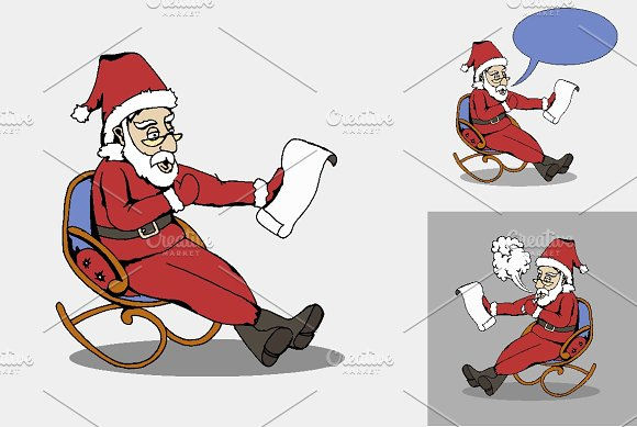 Santa With Letter