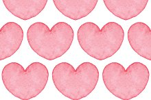 Seamless watercolor heart texture