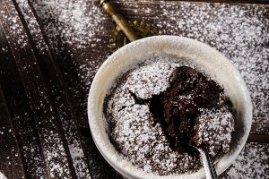 Chocolate souffle home